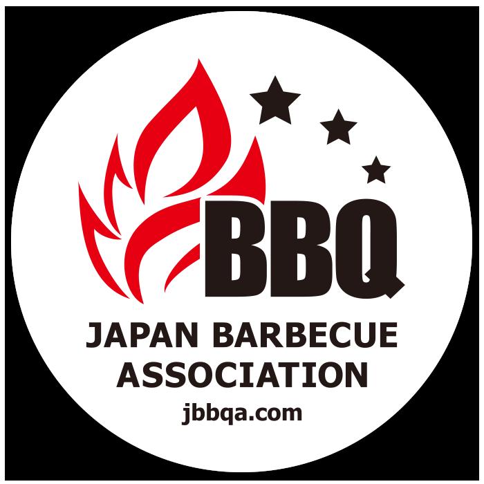 日本バーベキュー連盟のスタンダードステッカー