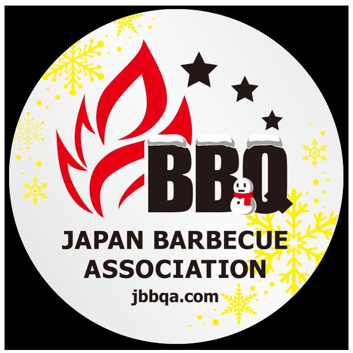 日本バーベキュー連盟のウインターバージョンステッカーのイメージ